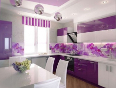 кухни глянцевые