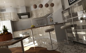 Кухни с эмалевым фасадом на заказ