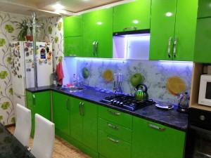 кухня салатового цвета - фасады пленка пвх