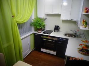 черно-белая кухня в пленке пвх