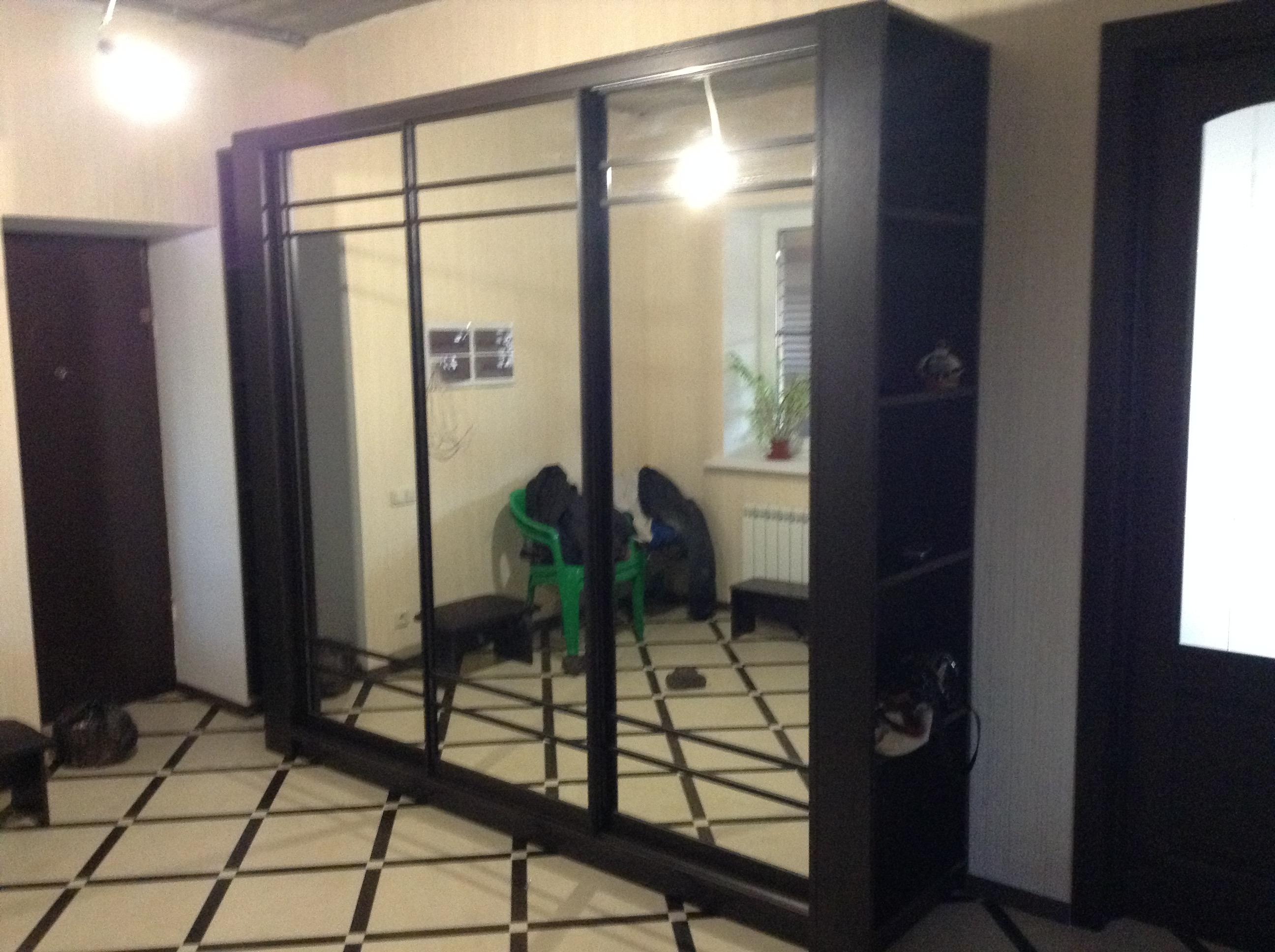 Шкаф купе венге с зеркалом