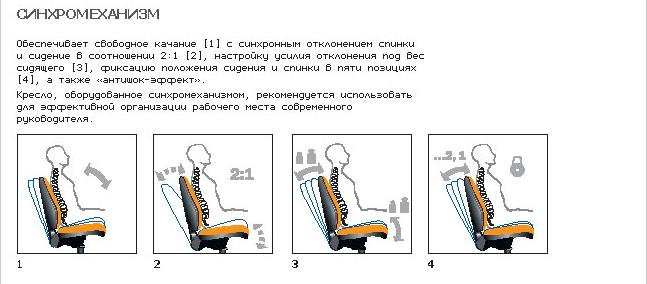 кресла офисные с синхромеханизмом недорого