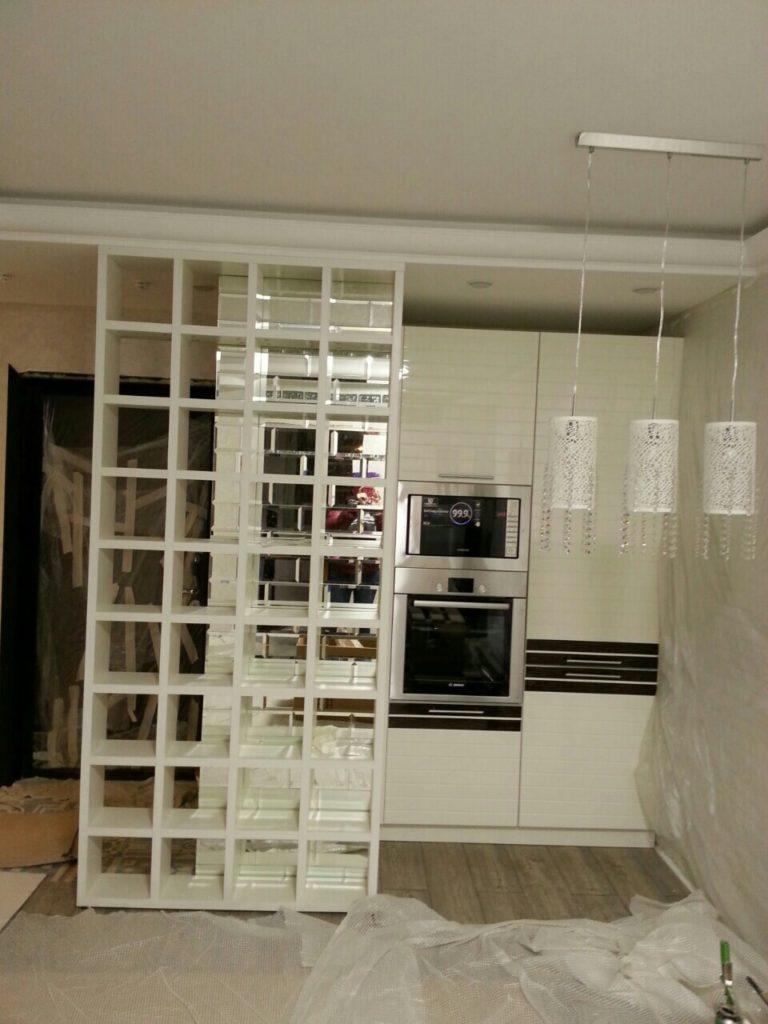 белые глянцевые кухни на заказ