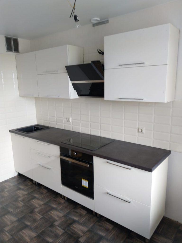 белые глянцевые кухни недорого