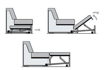 схема механизма трансформации дельфин для диван кровати
